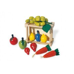 Pinolino Træ kasse Grøntsager