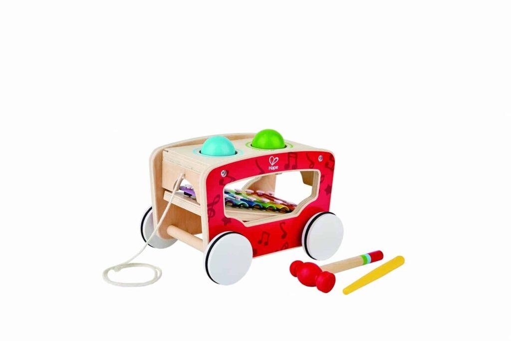 Hape Pull along activity wagon