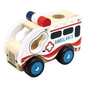 Ambulance i træ - Bino Toys