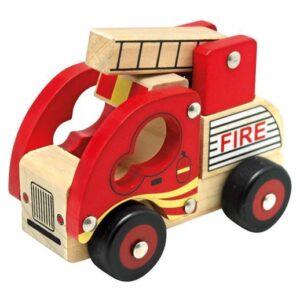 Brandbil i træ - Bino Toys