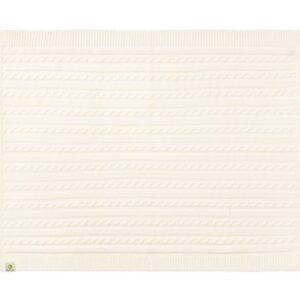 Strikket Økologisk tæppe 75 x 100 cm - OffWhite