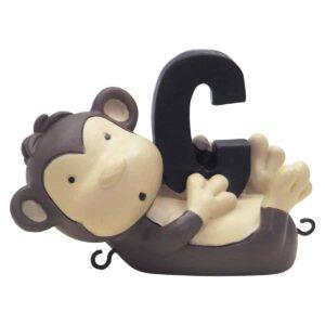 C bogstav med chimpanse til navnetog