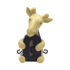 G bogstav med giraf til navnetog