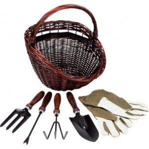 Havekurv med værktøj