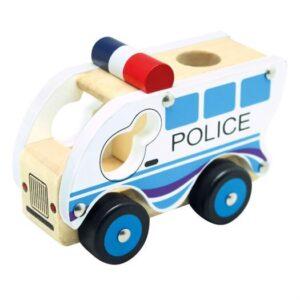 Politibil i træ - Bino Toys