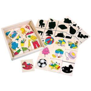 Billedlotteri skyggespil - Bino Toys