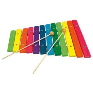 Xylofon med 12 toner - Bino Toys
