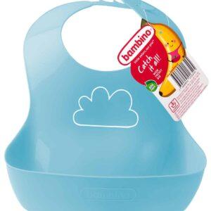 Bambino Plastic Bib - Blue
