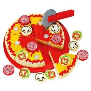 Pizza i træ - Bino Toys