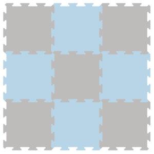 BeKids Legegulv blå-grå