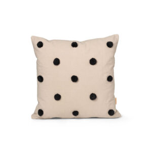 ferm Living Dot Tuftet pude - Sand Black