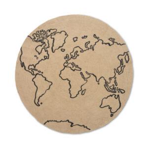 ferm Living Jute tæppe - Large - World