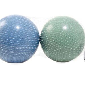 Magni 2 Plastikbolde i net (grøn og blå - 15cm)