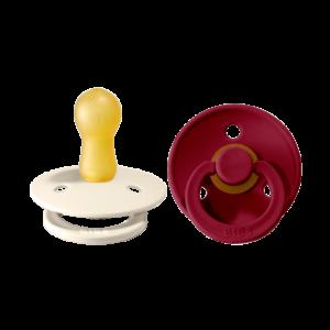 BIBS Colour sut 2pk 6-18 mdr. ivory / ruby latex