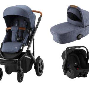 Britax / Britax-Römer Britax-Römer Smile III Duovogn - indigo blue inkl. Primo babyautostol