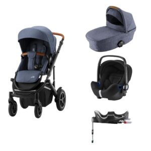 Britax / Britax-Römer Britax-Römer Smile III Duovogn - indigo blue inkl. Babysafe2 autostol og flex base