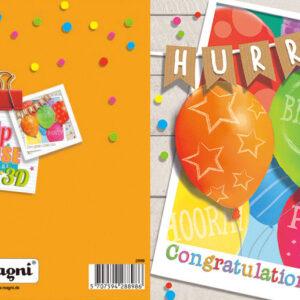 Magni 3D Kort - Fødselsdagsfest Ballon