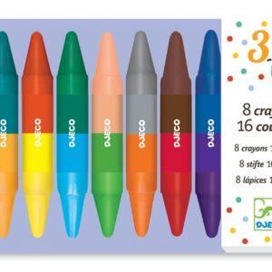 Djeco Farver - 8 Dobbelt farver