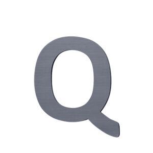 Sebra Q - Træbogstav - Grå