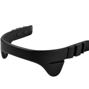 Leander® bøjle til højstol inkl. læderstrop - Sort - Strop: sort