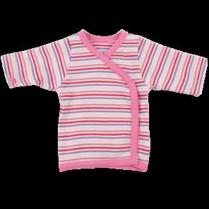 Fixoni Wrap Bluse - Little Bee - Pink Strib